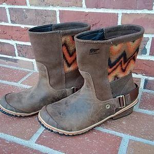 Sorel Tobacco Bonfire Ankle Boot